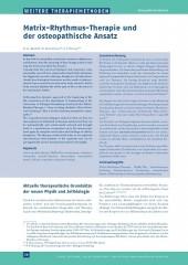 Matrix-Rhythmus-Therapie und der Osteopathische Ansatz